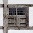 The window shutters of farmhouse — Stock Photo