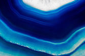 Background of slice of blue agate crystal — Stock Photo