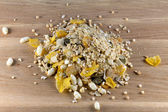 Muesli on the wooden surface — 图库照片