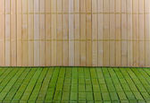 Wall and floor of straw mat — 图库照片