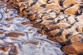 Frozen and icy river bottom — Stock Photo