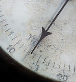 Meter needle old barometer closeup — Stock Photo