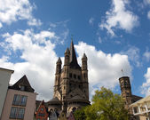 Church of St. Martin in Cologne in Germany — Stock Photo