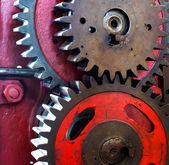 Pinion gear for mechanical machine — Stock Photo