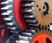 Pinion gear of mechanical machine — Stock Photo