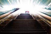 Stairs in the metro cities of Hamburg — Stock Photo