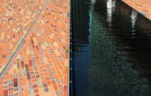 Cobbles and surface water in sunlight  — Stock Photo