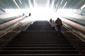 Stairs in the metro of Hamburg city — Stock Photo