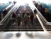 Stairs in the metro citiy — Stock Photo