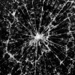 Background of black broken glass in cracks — Stock Photo