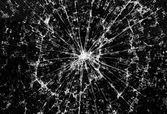 Background of black broken glass in cracks — Foto Stock
