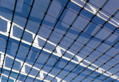 The glass roof of the station in the sunshine — Stock Photo