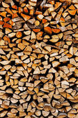 Background of a stack old firewood — Foto Stock