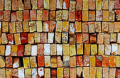 Background pile of the old bricks — Foto Stock