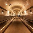 Old tunnel under the river Elbe in Hamburg — Stock Photo