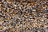 The Background of stack of old firewood — Foto Stock