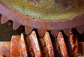 Old and rusty pinion gear of a mechanical machine  — Stock Photo
