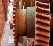 Old and rusty pinion gear of the machine  — Stock Photo