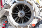 Mechanic parts of the old turbine engine — Stock Photo