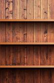 Wooden shelf — Foto de Stock