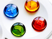 Game controller buttons — Stock Photo