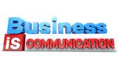 Comunicación empresarial tiene — Foto de Stock