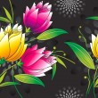 Vector de stock : Seamless vector floral wallpaper