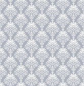 Seamless royal wallpaper in silver — Stock Vector