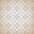 Seamless brown traditional wallpaper - Stock Vector
