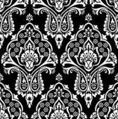 Vector seamless damask wallpaper — Vector de stock