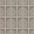 Seamless paisley wallpaper and pattern — Stockvectorbeeld