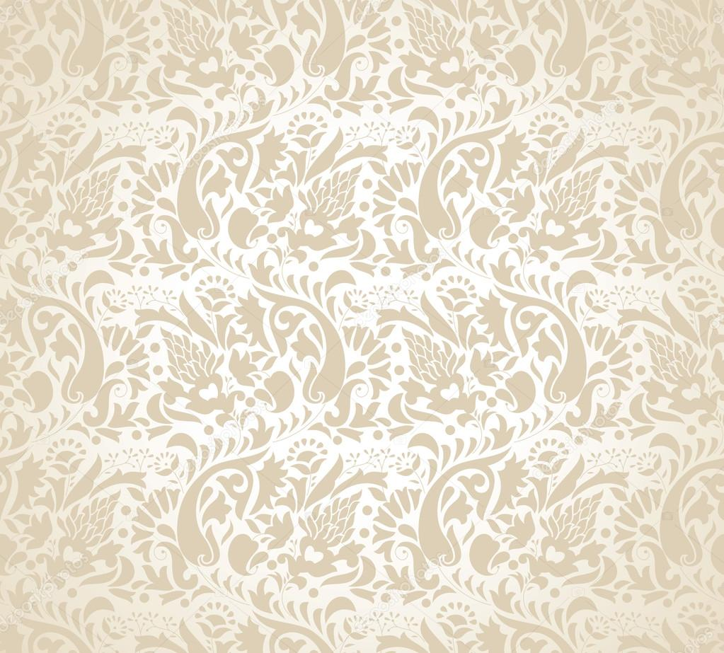 Paisley Background For Wedding Card Stock Vector