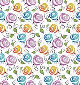 Seamless flower background for wrapper — Stock Vector
