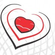 Royalty-Free Stock Vector Image: Valentine heart design