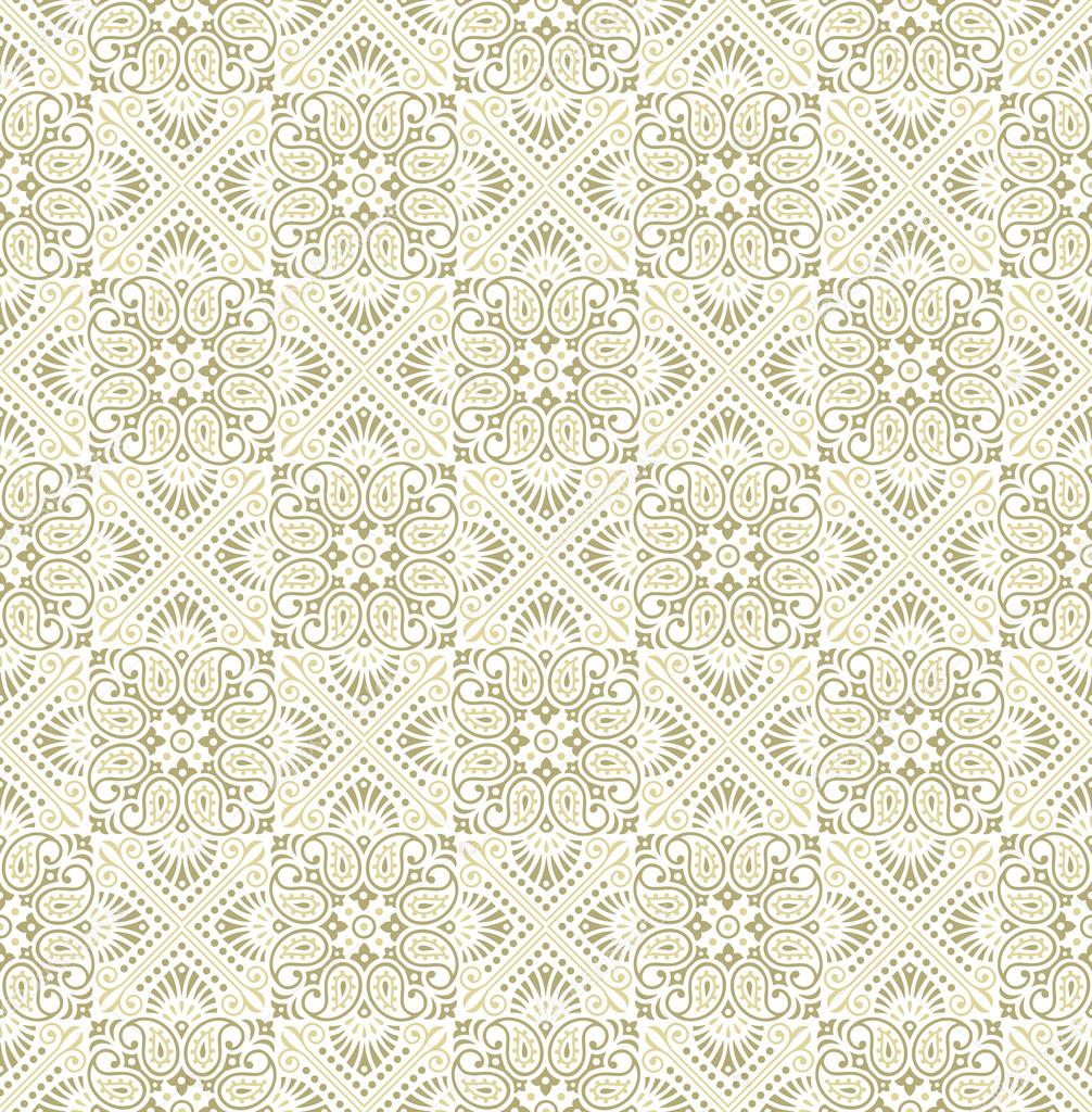 Seamless paisley golden Wallpaper-Background — Stock ...