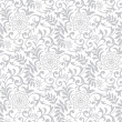 Stock Vector: Silver seamless floral background