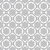Seamless silver floral royal wallpaper — Stock Vector