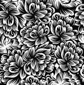 Seamless flowers background-wallpaper — Stock Vector