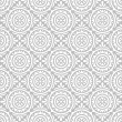 Silver floral pattern-wallpaper — Stock Vector