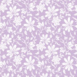 Stock Vector: Seamless purple floral background