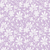 Seamless purple floral background — Stock Vector