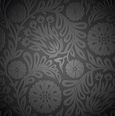 Papel de parede floral sem costura com efeito de alto-relevo — Vetorial Stock