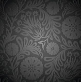 エンボス効果とシームレスな花の壁紙 — ストックベクタ