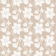 Seamless golden floral wallpaper — Stock Vector