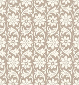 Seamless vector flower wallpaper — Stock Vector