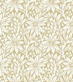 Seamless golden floral pattern — Stock Vector