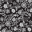 Floral seamless wallpaper-pattern — Stock Vector