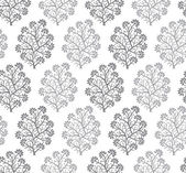 Seamless silver fancy floral wallpaper — Stock Vector