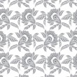 Silver seamless floral wallpaper — Stock Vector