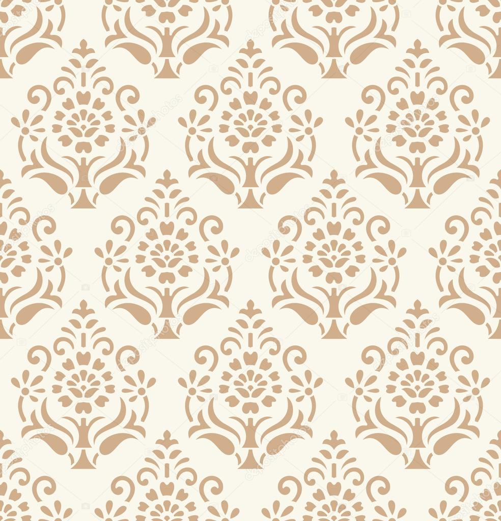 Papel de parede adamascado dourado sem emenda vetor de for Papel decorativo dorado